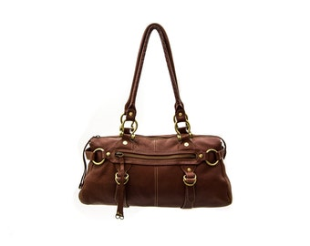 Vintage Via Spiga Brown Italian Leather Purse