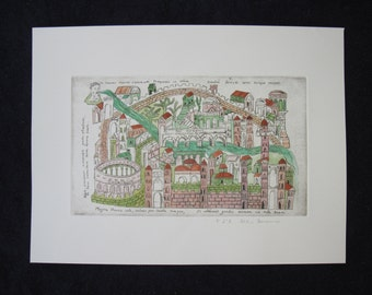 Rateriana iconography-etching of Verona