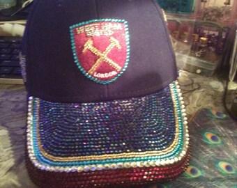 Personalised diamante football cap