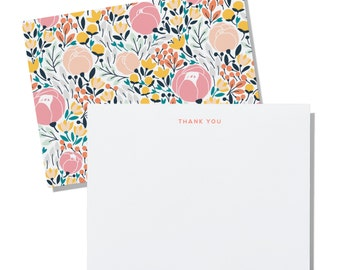 Floral - personalized notecards