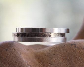 Sterling Silver bangles/ Textured Silver bangles/ Hammered Silver bangles/ Handmade bangles/ Oxidised bangles/Set of 3/ Stacking bracelets