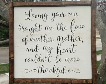 Mother in law framed wood sign
