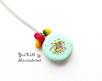 Mint Color Macaroon Necklace