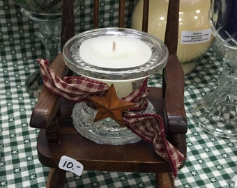Primitive candle in Rocker