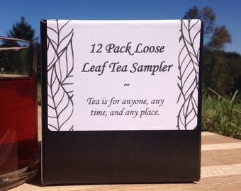 12 Pack Loose Leaf Tea Sampler