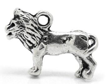 Lion Charms, Lion Pendant, Silver Lions, Tibetan Silver Lions, Jungle Charms, Zoo Charms, Standing Lions, Lion Jewellery, Lion Jewelry,