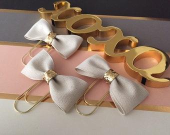 Cream Ribbon Bow W/Glitter Confetti Ribbon