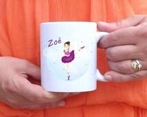 Mug personalized little dancer - personalized gift - mug girl