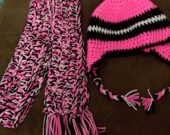 Crochet hat and scarf sets
