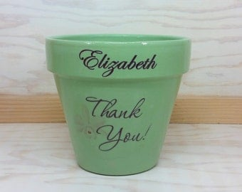 Personalized Flower Pots, Personalized Thank You Flower Pot, Thank you gift, Thank you present, Personalized gift