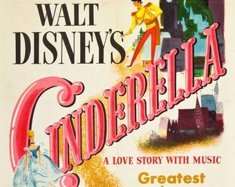 FREE SHIPPING Cinderella movie poster 11x17