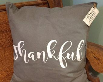 Thankful customized decorative pillow
