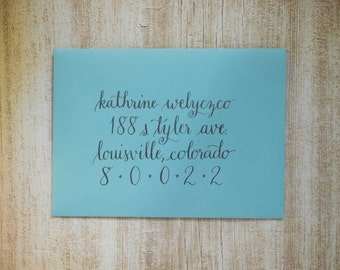 Envelope Addressing - Centered | Custom Calligraphed Envelope | A7