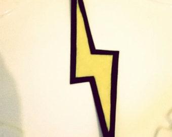 lightning bolt hair clip
