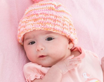 Baby's First Hat-Knitting Pattern-Easy