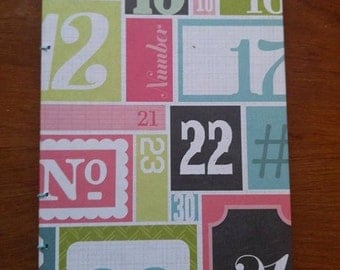 Numbers Coptic Stitch Notebook/Sketchbook/Journal