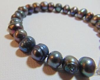 Dark Blue Freshwater Pearl Bracelet