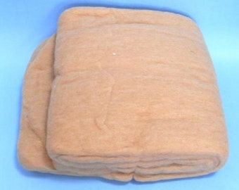 Cotton Fiber Batts, Brown Peru Cotton, for Spinning, about 200g (7oz)