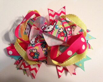 5 inch Hello Kitty Hair Bow