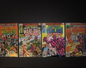 John Carter Warlord of Mars, Edgar Rice Burroughs', 4 Marvel comics, #26,#27,#28,#3 Annual, 1979