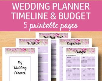 Wedding Planner Book Printable, Wedding Planner Printable, Planning Book, Planning Binder, Plan Checklist, Letter Size, Instant Download