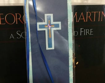Blue Cross Bookmark.