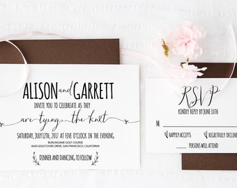 Diy Wedding Invitation Template | Wedding Invitation template | Wedding invite template | Word | Editable text,colors | INSTANT DOWNLOAD