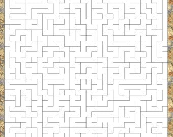 MAZE Printable Game, 30 mazes and 30 mazes free, Instant Download, PDF for adults and children, kids, 30x30 and 35x35 squares