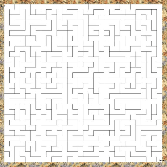 Maze Printable Game 30 Mazes And 30 Mazes Free Instant