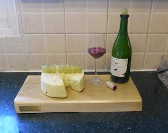 wine and cheese themed menorah