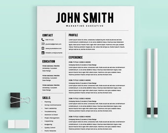resume template resume builder cv template cover letter ms word on mac