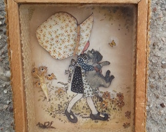 Small Holly Hobbie Vintage Picture 3d layered paper