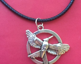 MockingJay Necklace - Fandom Jewelry - Cord Necklace - Hunger Games Inspired - Free Shipping!!