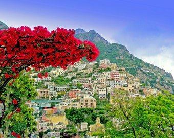 photography Color Italy,  landscapes, Italy, Scenic landscape,Positano Italy landscapes