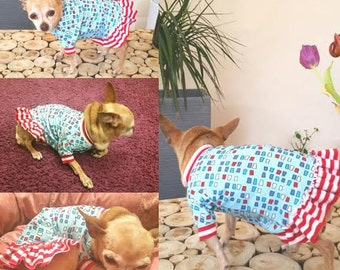 Colorful Dog Dress, dog dress, dog clothes,
