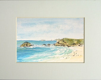 Watercolour Painting - Pentire Headland