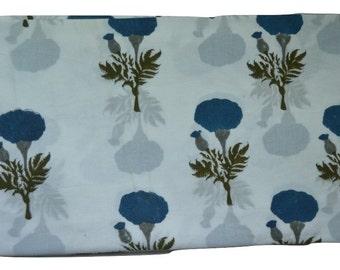 1 to 50 Yard (Print_135)Indian Block Printed Cotton  Fabric
