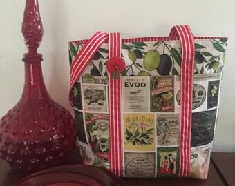 Olives - Multi Pocket Tote Bag
