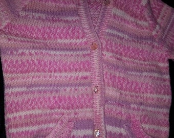 Girls pink 4-5 years knitted cardigan