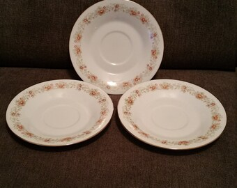 Vintage Set of 3 Saucers from International Porcelain The Brighton Collection Claridge