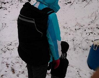 baby carrier cover, hoodies, INDIGO handmade