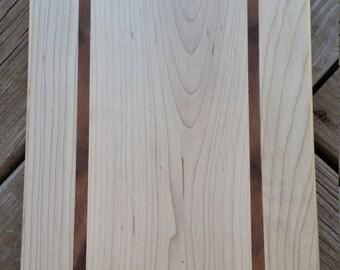 Maple and Walnut Handmade Cutting Board, Cheese Board, Bread Board