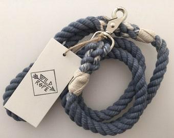 5 Ft Rope Leash BLUE
