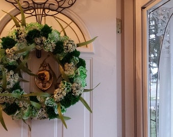 Floral St. Patrick's Day Wreath
