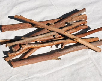 "10 Small sticks, Woodland Decor, Smooth Bark, Brown Sticks, Bundle of Sticks, 12"" Sticks, Rustic Wedding, Wedding Decor Woodland Wedding"