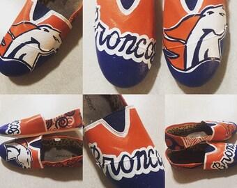 Painted Denver Broncos Imitation Toms