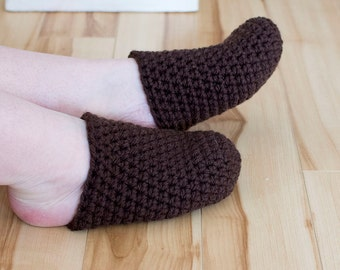 Crocheted toe slippers, half slippers, slippers for adults, slippers, crocheted,