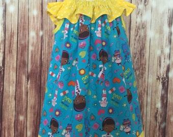 Doc McStuffins dress, Doc McStuffins sundress, Dottie Doctor dress, Doc McStuffins toddler dress, Doc McStuffins Peasant dress