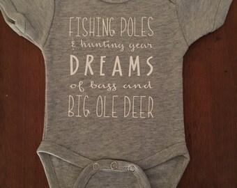 Cute fishing/hunting shirt or Onesie