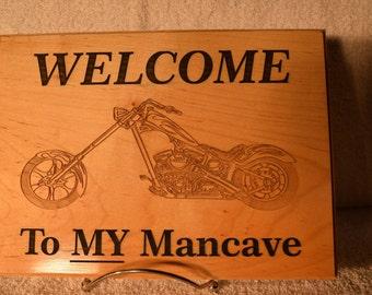 Man Cave Wood Plaque